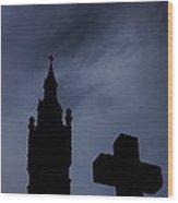 Silhouette Of St. Joseph Wood Print
