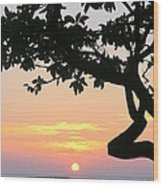 Silhouette Sunrise Wood Print