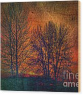 Silhouettes Wood Print