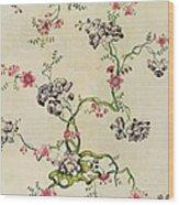 Silk Design Wood Print by Anna Maria Garthwaite