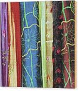 Silk Fabric 01 Wood Print