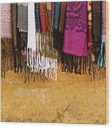Silk Fabric 02 Wood Print