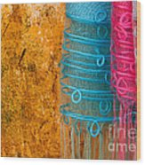 Silk Fabric 05 Wood Print