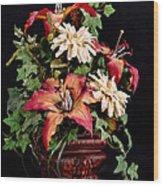 Silk Flowers Wood Print by Jeff Burton