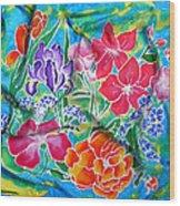 Silk Summer Bouquet Wood Print