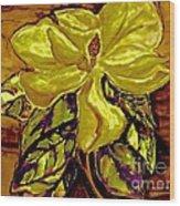 Silky Magnolia Wood Print