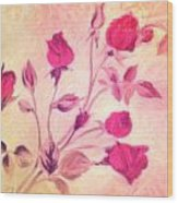 Silky Red Roses Wood Print