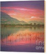 Silky Skies Wood Print