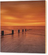 Silky Sunrise Wood Print by Mark Leader