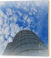 Silo Meets The Sky Wood Print