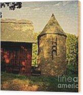 Silo Red Barn Wood Print