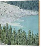 1m3531-silt Entering Peyto Lake Wood Print
