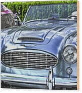 Silver 1963 Austin Healey Roadster 3000 Wood Print