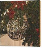 Silver Ball Wood Print