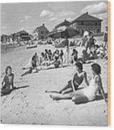 Silver Beach On Cape Cod Wood Print