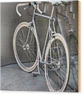 Silver Bike Wood Print