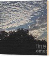 Silver Clouds Wood Print