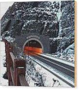 Silver Creek Tunnel Wood Print