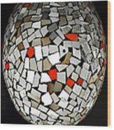 Silver Egg Wood Print