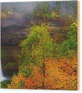 Silver Falls Pano Wood Print by Darren  White
