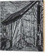 Silver Grey Wood Print