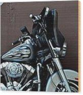 Silver Harley Motorcycle Wood Print