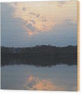 Silver Lake Golden Skies Wood Print by Jaime Neo