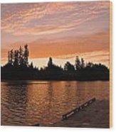 Silver Lake Sunset Wood Print