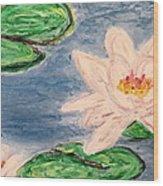 Silver Lillies Wood Print by Daniel Dubinsky