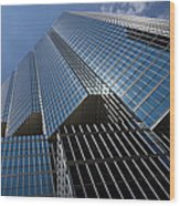 Silver Lines To The Sky - Downtown Toronto Skyscraper Wood Print