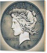 1922 Silver Proof Peace Dollar Wood Print
