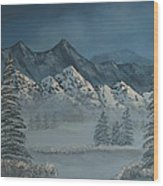 Silver Pine Valley Wood Print
