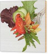 Silver Salad Fork Wood Print