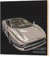 Silver Sports Car Wood Print by Edward Fielding
