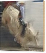 Silver State Stampede 2014 Bull Rider Wood Print