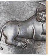 Silver Tiger Wood Print