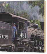 Silverton Engine 481 Wood Print