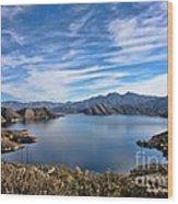 Silverwood Lake Wood Print