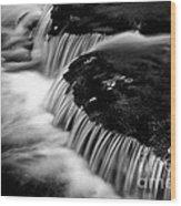 Silvery Falls Wood Print