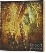 Simon Helps Jesus Via Dolorosa 5 Wood Print by Lianne Schneider
