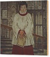 Simon - Winchester Cathedral Choral Scholar Wood Print
