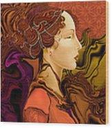 Simonetta Nouveau Wood Print