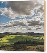 Simonside Hills From Rothbury Terraces Wood Print