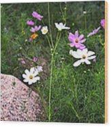 Simple Flowers 11460 Wood Print