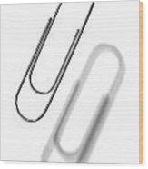 Simple Genius Paperclip 1 Wood Print