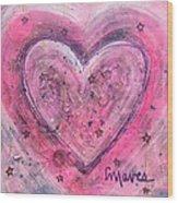 Simple Love Simple Heart Wood Print