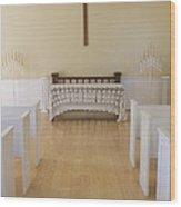 Simple Sunlit Chapel Wood Print