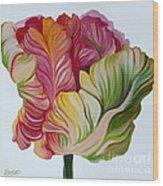 Simple Tulip Wood Print