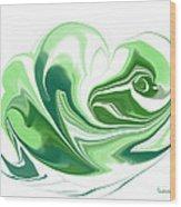 Simplicity In Green Wood Print