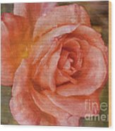 Simply A Rose Wood Print